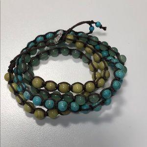 Stella & Dot wrap bracelet 3 different stones